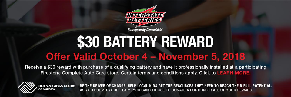 2018 October Battery - Firestone Complete Auto Care