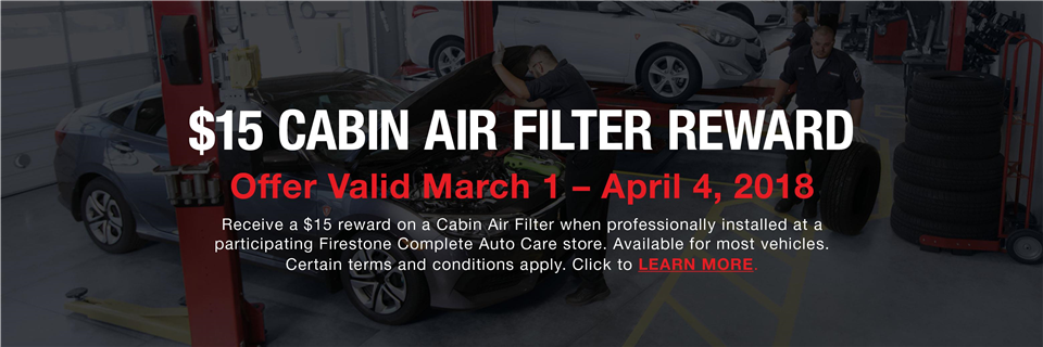 2018 Cabin Air Filter - FCAC